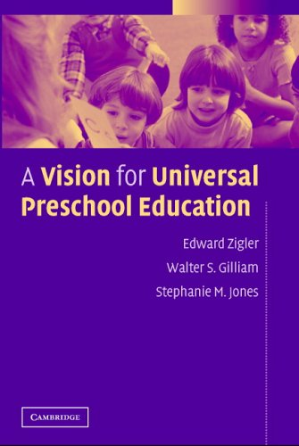 A Vision for Universal Preschool Education 9780521612999