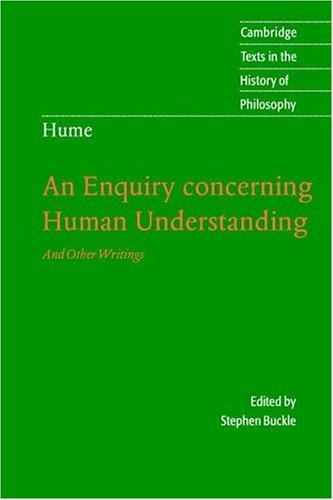 An Enquiry Concerning Human Understanding: And Other Writings 9780521604031