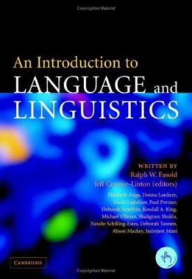 An Introduction To Language And Linguistics By Ralph W border=