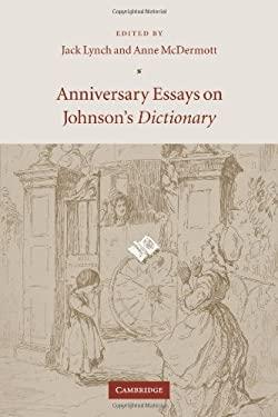 Anniversary Essays on Johnson's Dictionary 9780521049887