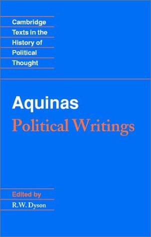 Aquinas: Political Writings 9780521375955