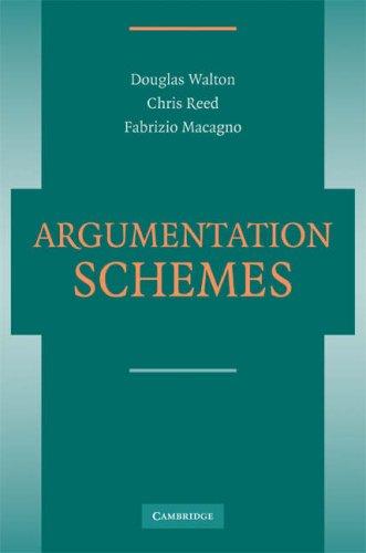 Argumentation Schemes 9780521723749