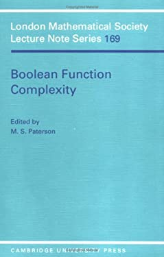 Boolean Function Complexity 9780521408264