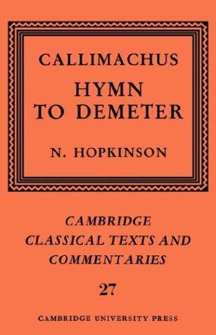 Callimachus: Hymn to Demeter