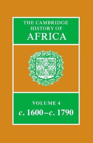 Cambridge History of Africa Vol 4