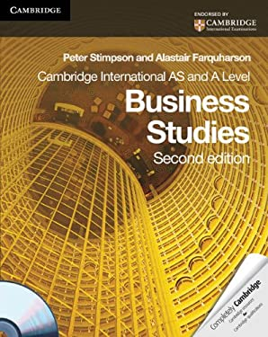 Cambridge International AS and A Level Business Studies [With CDROM] 9780521126564