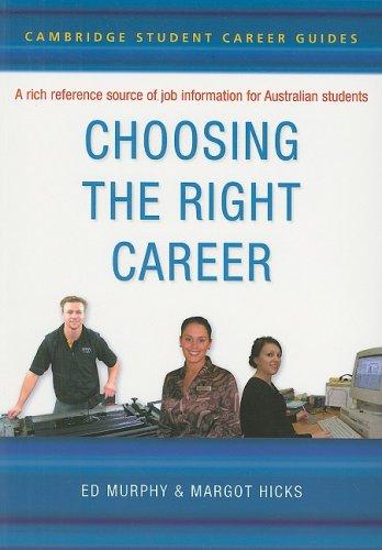 Choosing the Right Career 9780521609616