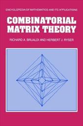 Combinatorial Matrix Theory 1741135