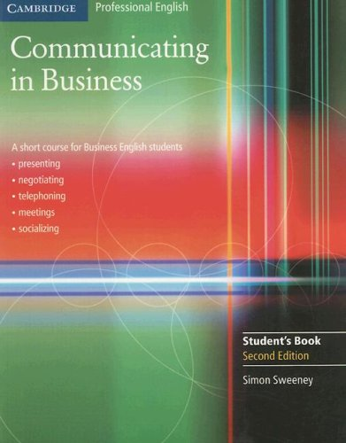Communicating in Business 9780521549127