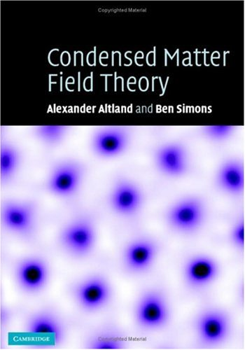 Condensed Matter Field Theory 9780521845083