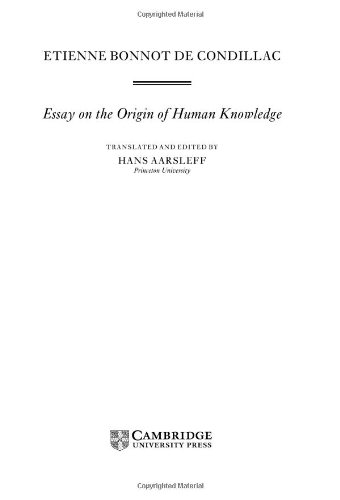Condillac: Essay on the Origin of Human Knowledge 9780521584678