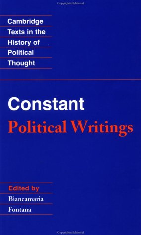 Constant: Political Writings 9780521316323