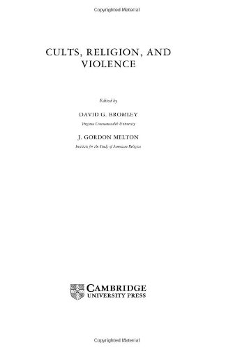 Cults, Religion, and Violence 9780521660648