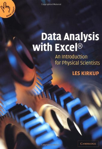 Data Analysis with Excel: An Introduction for Physical Scientists 9780521797375