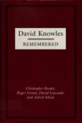 David Knowles Remembered 9780521372336