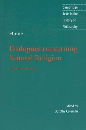 Dialogues Concerning Natural Religion: And Other Writings 9780521603591