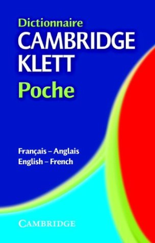 Dictionnaire Cambridge Klett Poche Franais-Anglais/English-French 9780521803014
