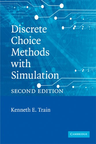 Discrete Choice Methods with Simulation 9780521747387