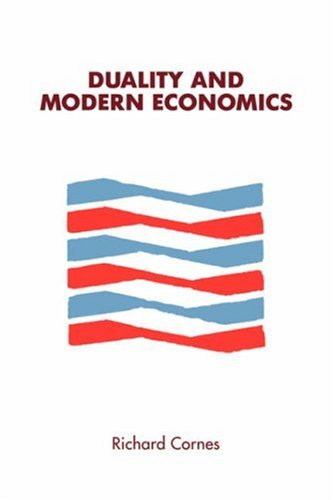 Duality and Modern Economics 9780521336017