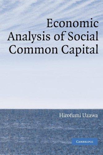 Economic Analysis of Social Common Capital 9780521847889