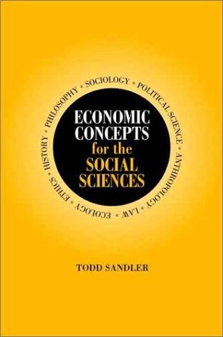 Economic Concepts for the Social Sciences 9780521796774