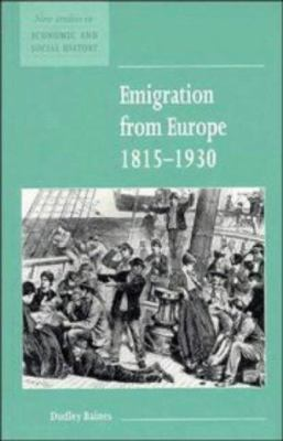 Emigration from Europe 1815 1930 9780521557832