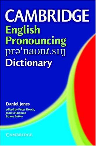English Pronouncing Dictionary 9780521816939
