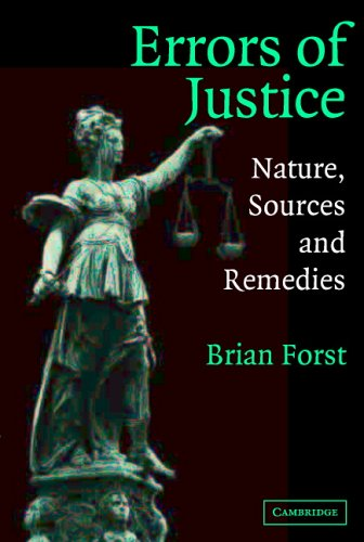 Errors of Justice: Nature, Sources and Remedies 9780521528825