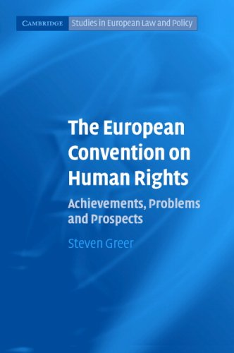 The European Convention on Human Rights 9780521608596