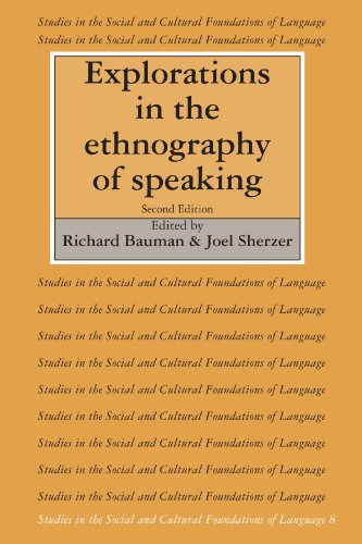 Explorations in the Ethnography of Speaking 9780521379335