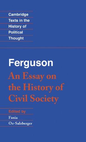 Ferguson: An Essay on the History of Civil Society 9780521442152