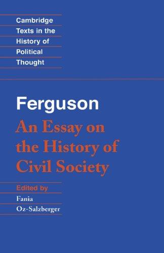 Ferguson: An Essay on the History of Civil Society 9780521447362