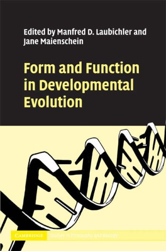 Form and Function in Developmental Evolution 9780521872683
