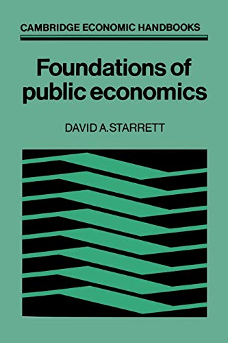 Foundations in Public Economics 9780521348010
