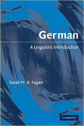 German: A Linguistic Introduction 9780521618038
