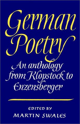 German Poetry: An Anthology from Klopstock to Enzensberger 9780521312646