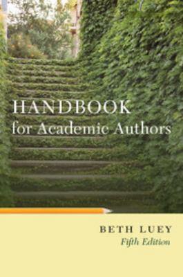 Handbook for Academic Authors 9780521144094