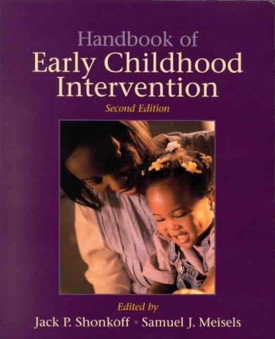 Handbook of Early Childhood Intervention 9780521585736