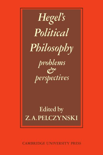 Hegel's Political Philosophy: Problems and Perspectives 9780521099875
