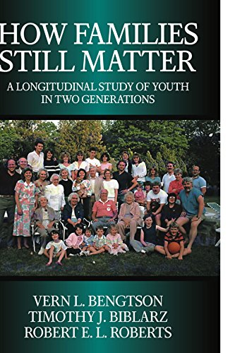 How Families Still Matter: A Longitudinal Study of Youth in Two Generations 9780521009546