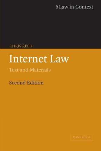 Internet Law: Text and Materials 9780521605229