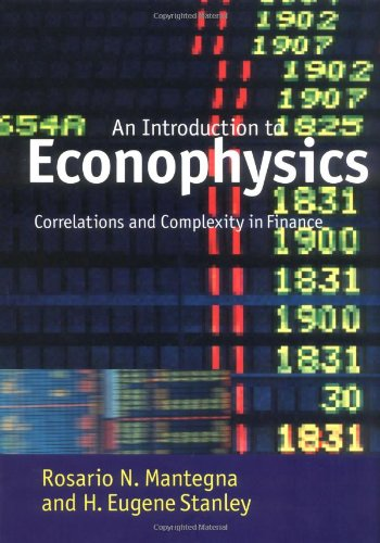 Introduction to Econophysics: Correlations and Complexity in Finance 9780521620086