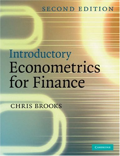 Introductory Econometrics for Finance 9780521694681