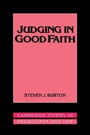 Judging in Good Faith 9780521419949