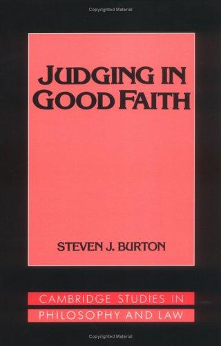 Judging in Good Faith 9780521477406