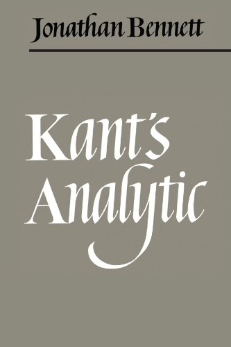 Kant's Analytic 9780521093897