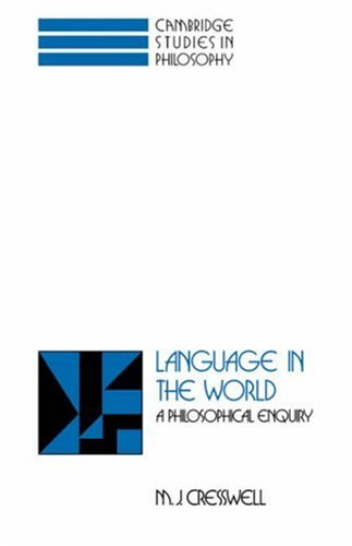 Language in the World: A Philosophical Enquiry 9780521445627