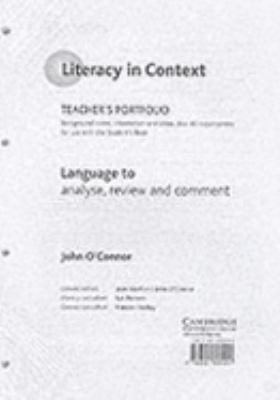 Language to Analyse, Review and Comment Teacher's Portfolio 9780521805551