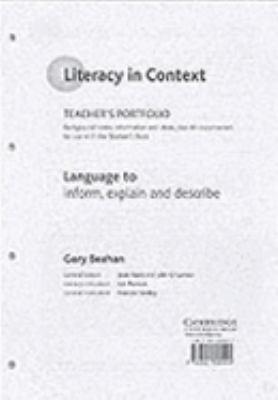 Language to Inform, Describe and Explain Teacher's Portfolio 9780521805599