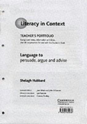 Language to Persuade, Argue and Advise Teacher's Portfolio 9780521805636